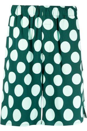 Ami Heren Bermuda's - Polka dot Bermuda shorts