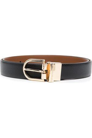 Emporio Armani Dames Riemen - Engraved logo belt
