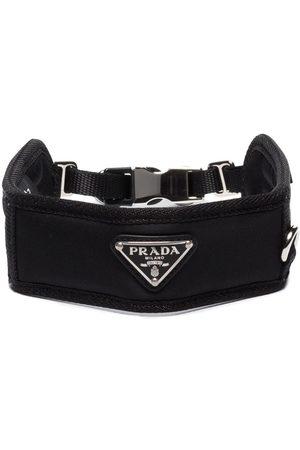 Prada Heren Petten - Triangle-logo collar
