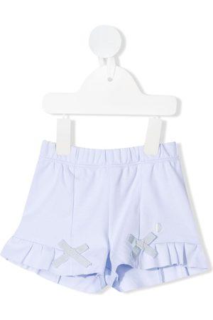 PATACHOU Ruffle-trim cotton shorts