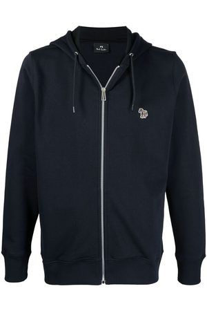 Paul Smith Signature zebra-embroidered organic-cotton hoodie
