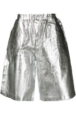 Comme des Garçons Heren Bermuda's - Metallic effect shorts