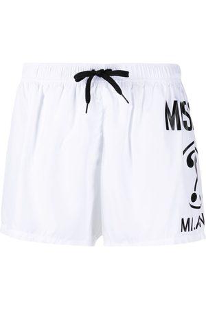 Moschino Heren Shorts - Logo print swim shorts