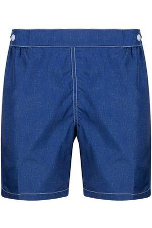 FEDELI Heren Shorts - Contrast stitching swim shorts