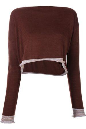 Comme des Garçons Dames Blouses - 1991 asymmetric knitted blouse