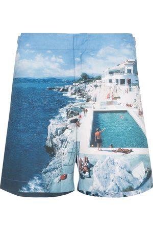 Orlebar Brown Heren Shorts - Bulldog Hulton print swim shorts