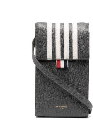 Thom Browne Four-bar stripe phone bag