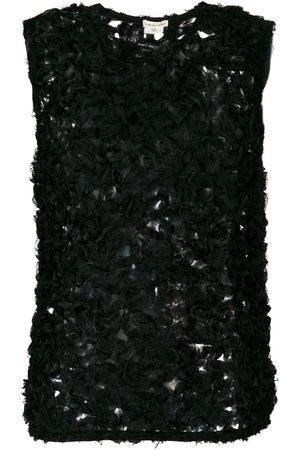 Comme des Garçons Sheer knitted blouse