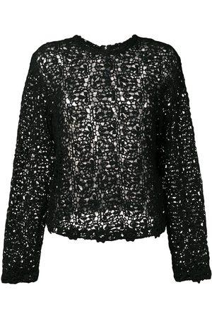 Comme des Garçons Dames Blouses - Crochet long sleeved blouse