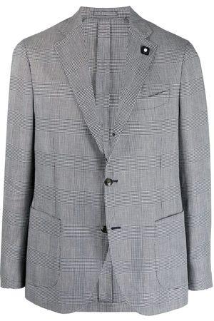 LARDINI Heren Blazers - Checked single-breasted blazer