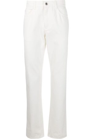 Salvatore Ferragamo Heren Straight - Straight-leg logo patch jeans