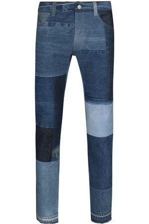 Children Of The Discordance Heren Slim - Patchwork straight-leg jeans