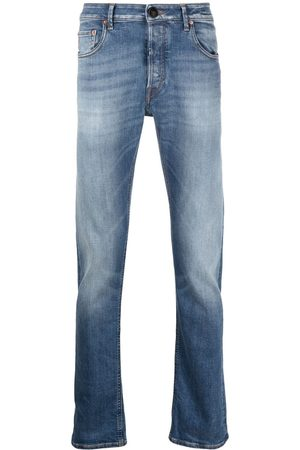 Hand Picked Heren Straight - Mid-rise straight-leg jeans