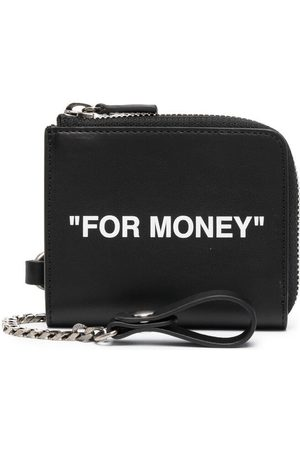 OFF-WHITE Quote print chain wallet