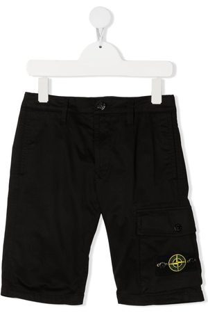 Stone Island Logo-patch knee-length shorts