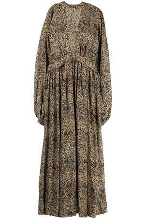 WANDERING Dames Geprinte jurken - All-over logo-print flared dress