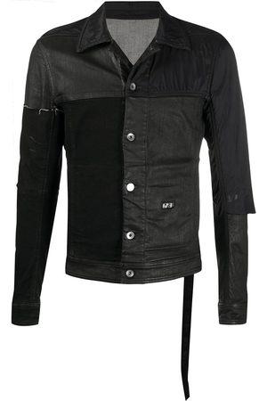 Rick Owens Tonal patchwork jacket