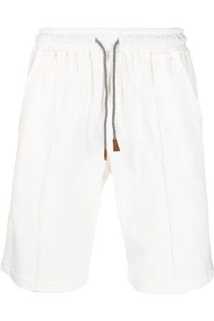 ELEVENTY Striped cotton deck shorts