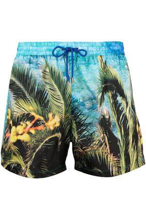 Paul Smith Palm-print swim shorts