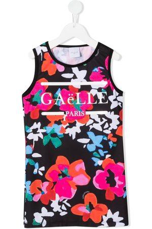 GAËLLE Floral-print tank dress