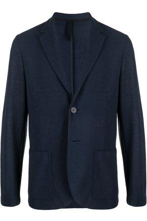 Harris Wharf London Heren Blazers - Single-breasted cotton-blend blazer