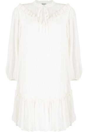 Liu Jo Embroidered ruffle-detail dress