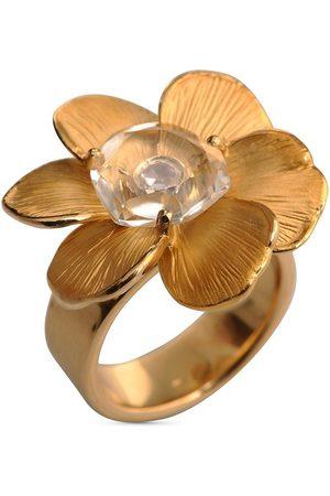 Carrera Dames Ringen - 18kt yellow diamond medium Gardenia flower ring