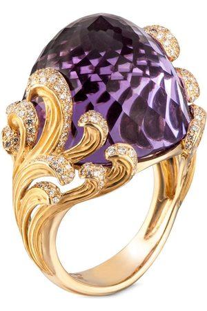 Carrera Dames Ringen - 18kt yellow diamond amethyst Origen maxi ring