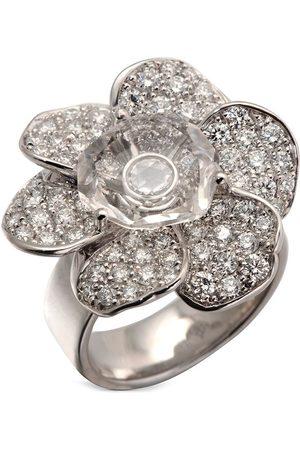 Carrera Dames Ringen - 18kt white gold diamond Gardenias Flower medium ring