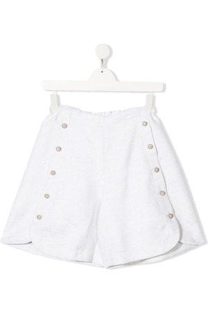 Dondup Shorts - TEEN glittery high-waisted shorts