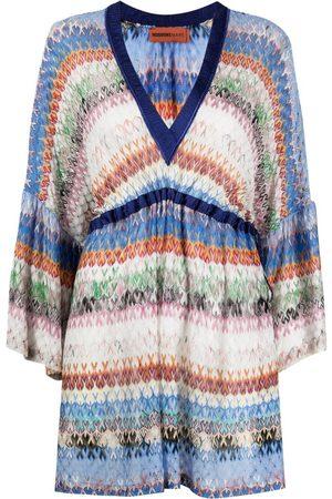 Missoni Dames Korte jurken - Striped zip-zag mini dress