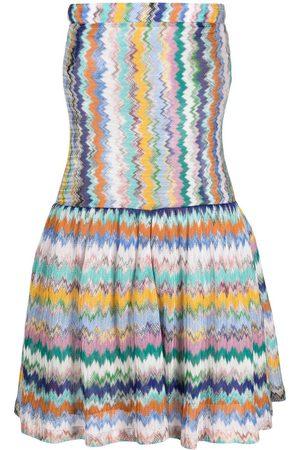 Missoni Zip-zag pattern mini dress