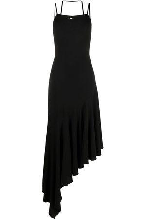 OFF-WHITE Dames Asymmetrische jurken - Asymmetric flared dress