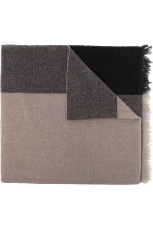 Lady Anne Heren Sjaals - Color-block cashmere scarf