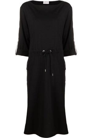 Moncler Dames Midi jurken - Logo patch midi dress