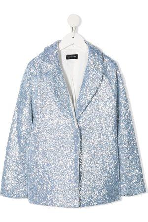 MONNALISA Blazers - TEEN sequinned single-breasted blazer