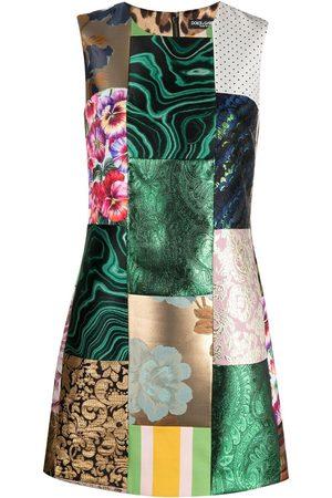 Dolce & Gabbana Patchwork jacquard-woven dress