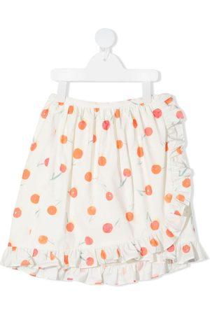 BONPOINT Meisjes Geprinte rokken - Orange-print ruffle-trim skirt