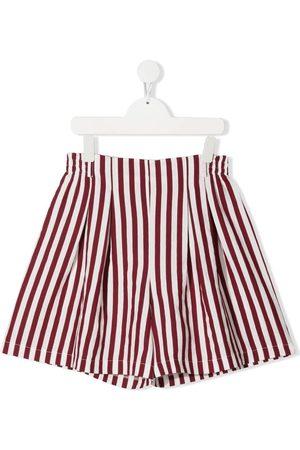 MONNALISA Striped high-waist shorts