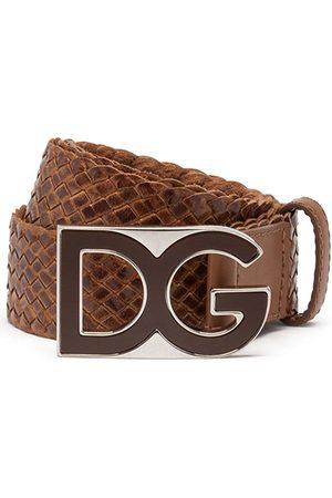Dolce & Gabbana Heren Riemen - Woven logo-plaque belt