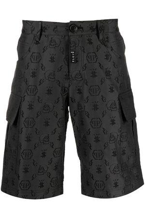 Philipp Plein Heren Bermuda's - Jacquard-monogram cargo shorts