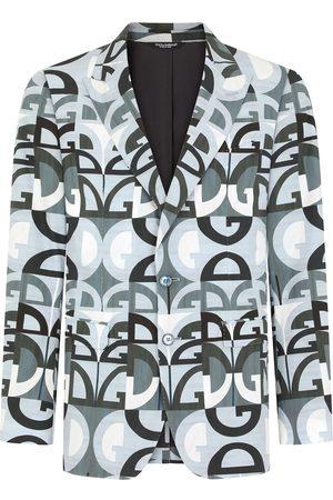Dolce & Gabbana Heren Blazers - DG Logo single-breasted blazer