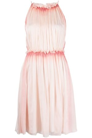 Alberta Ferretti Ruffled-halterneck silk dress