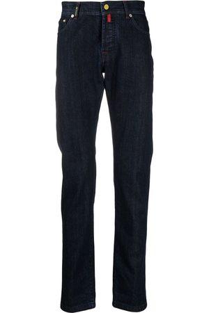 Kiton Mid-rise slim-fit jeans
