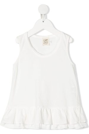 Caffe' D'orzo Serena ruffle-trimmed cotton top