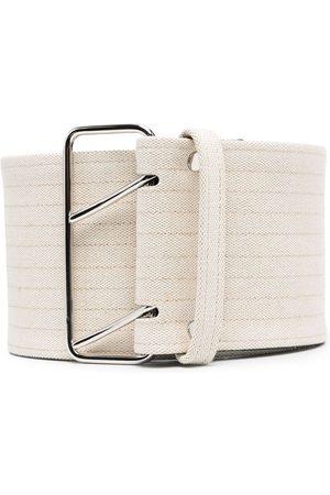 Jil Sander Heren Riemen - Stripe detail belt