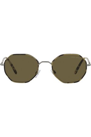 Armani Hexagon-shaped sunglasses