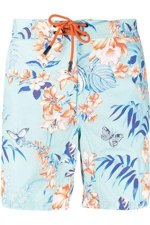 Etro Heren Shorts - Floral print swim shorts