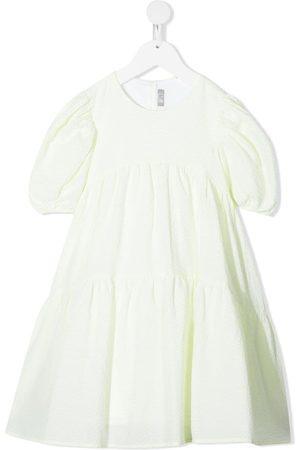 Il gufo Meisjes Feestjurken - Bow-detail short sleeve dress