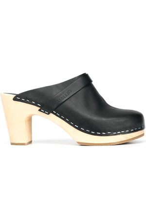 Swedish Hasbeens Dames Clogs - Slip-on high-heel clogs